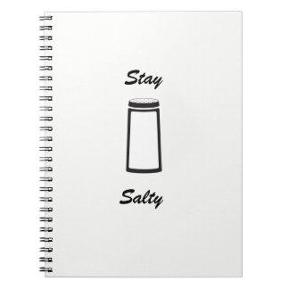 Cuaderno blanco salado de la estancia
