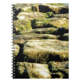 Cuaderno bloques del amarillo de roca