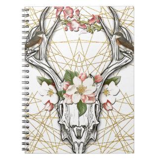 Cuaderno Boho Skull
