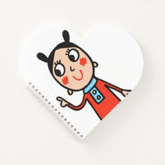 Cuaderno bonito del corazón del diario del amor