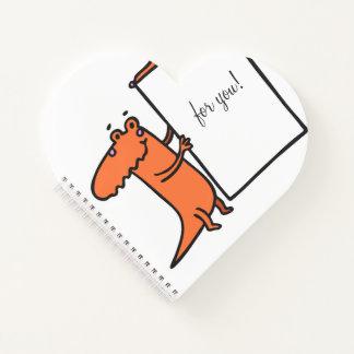 cuaderno bonito del corazón del diario del amor de