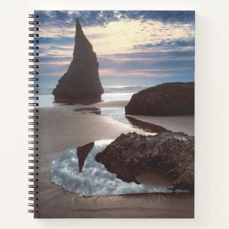 Cuaderno Borde del camino Espina-Formado de la roca de la