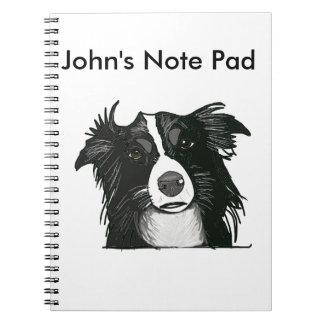 Cuaderno Border collie blanco y negro