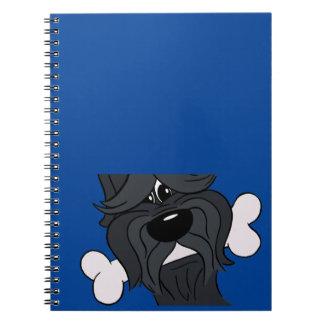 Cuaderno Bouvier de la Flandres con huesos