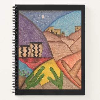 Cuaderno brillante del desierto del sudoeste del