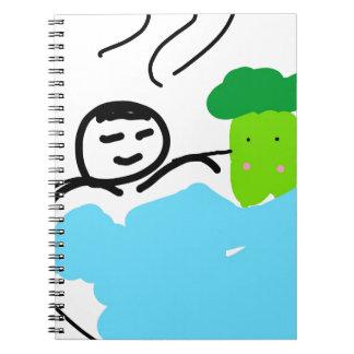 Cuaderno Bróculi lindo en aguas termales