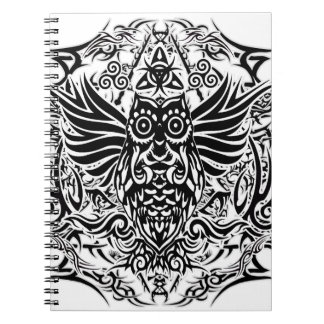 Cuaderno Búho tribal del tatuaje