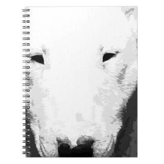 Cuaderno Bull terrier blanco y negro