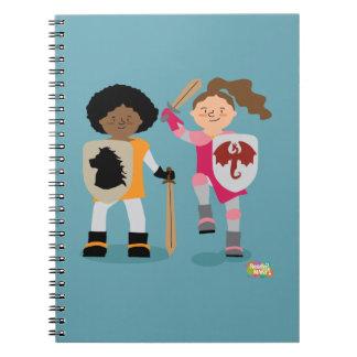 Cuaderno Caballero de los chicas hacia fuera