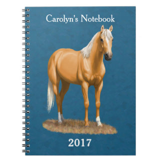 Cuaderno Caballo cuarto excelente del Palomino bonito