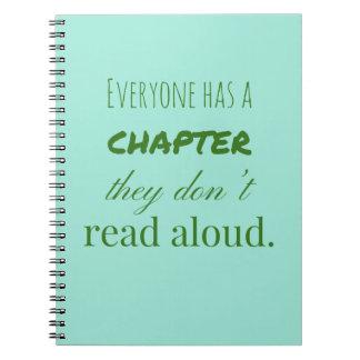 """Cuaderno """"Cada uno tiene un capítulo. """""""