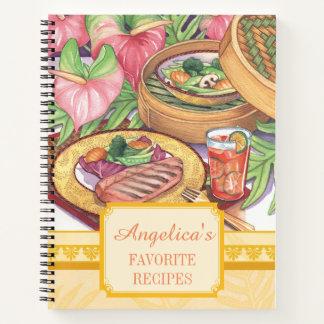 Cuaderno Café de la isla - receta de bambú del vapor