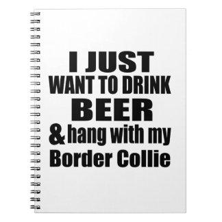 Cuaderno Caída con mi border collie