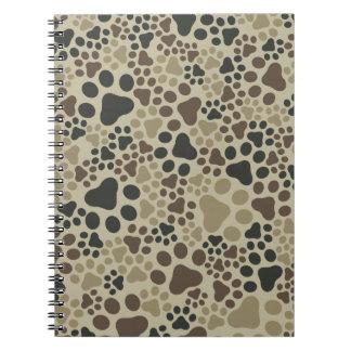 Cuaderno Camuflaje del cojín de la pata