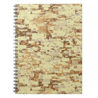 Cuaderno Camuflaje del desierto del bloque
