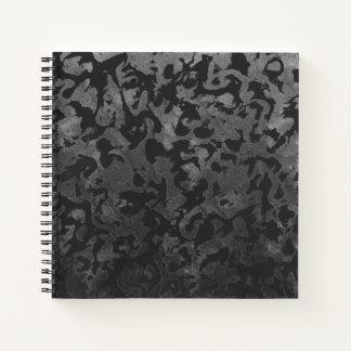 Cuaderno Camuflaje gris negro y oscuro de Camo moderno -