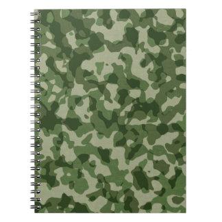 Cuaderno Camuflaje militar del verde de la selva