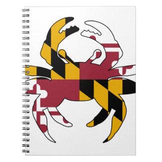 Cuaderno Cangrejo de la bandera de Maryland