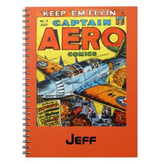 Cuaderno Capitán Aero Comics Keep Em Flyin