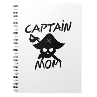 Cuaderno Capitán Mom Pirate Funny del traje de Halloween