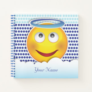 Cuaderno Cara sonriente pegada amor