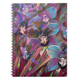 Cuaderno Carnaval de la orquídea del Cymbidium
