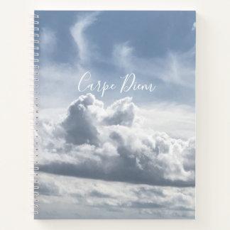 Cuaderno Carpe Diem, foto hermosa de las nubes