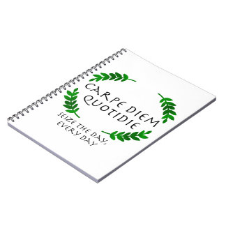 Cuaderno Carpe Diem Quotidie - agarre el día, cada día