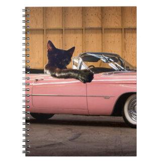 Cuaderno Carrito fresco del gato