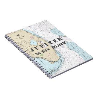 Cuaderno Carta náutica de la longitud de la latitud de