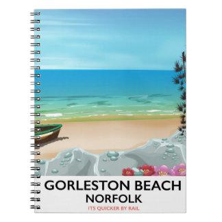 Cuaderno Cartel del carril de Norfolk de la playa de