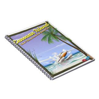 Cuaderno Cartel del paraíso del Caribe, islas de Canouan