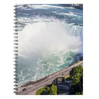 Cuaderno Cascada Canadá de las caídas de la herradura de