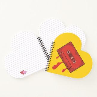 Cuaderno Casete rojo del corazón