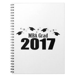Cuaderno Casquillos y diplomas (negro) del graduado 2017 de
