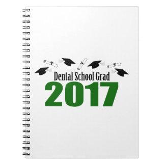 Cuaderno Casquillos y diplomas (verde) del graduado 2017
