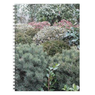 Cuaderno Centro de jardín con la selección de plantas de