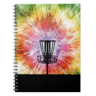 Cuaderno Cesta del golf del disco del teñido anudado