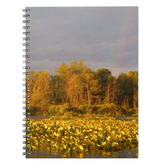 Cuaderno Charca doble del arco iris