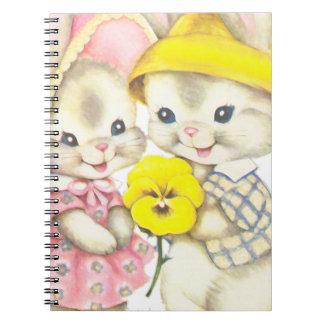 Cuaderno Chica de conejito+Muchacho