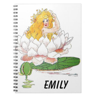 Cuaderno Chica de hadas floral lindo del niño de flor del