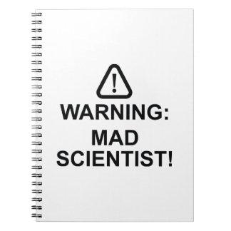 Cuaderno Científico enojado amonestador