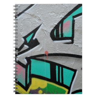 Cuaderno Cierre de moda abstracto de la pintada encima del