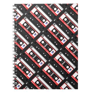 Cuaderno Cinta de casete retra de los años 80