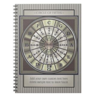 Cuaderno Círculo del diario de los músicos de los quintos