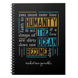 Cuaderno Cita de Mahatma Gandhi