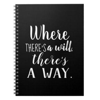 Cuaderno Cita inspirada de motivación que dice tipografía