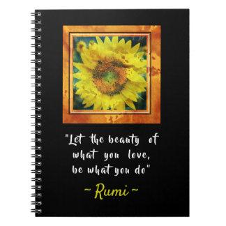 Cuaderno Cita inspirada de Rumi