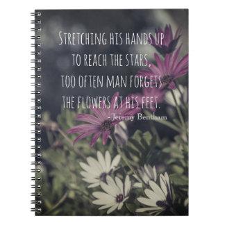 Cuaderno Cita inspiradora de Jeremy Bentham