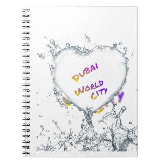 Cuaderno Ciudad del mundo de Dubai, chapoteo del agua del